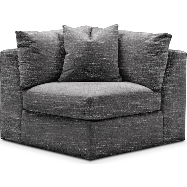 Living Room Furniture - Collin Corner Chair- Comfort in Curious Charcoal