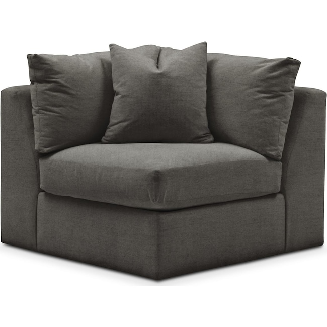 Living Room Furniture - Collin Corner Chair- Comfort in Statley L Sterling