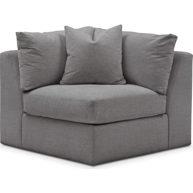 Living Room Furniture - Collin Corner Chair- Comfort in Hugo Graphite