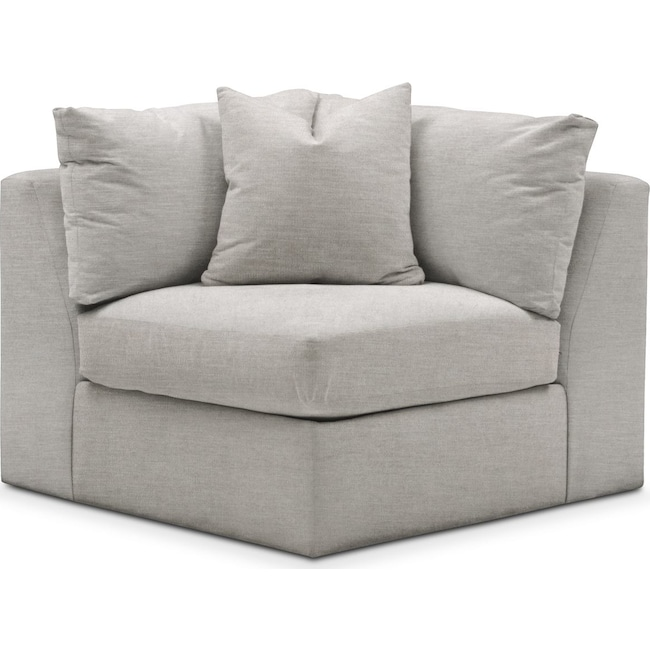 Living Room Furniture - Collin Corner Chair- Comfort in Dudley Gray