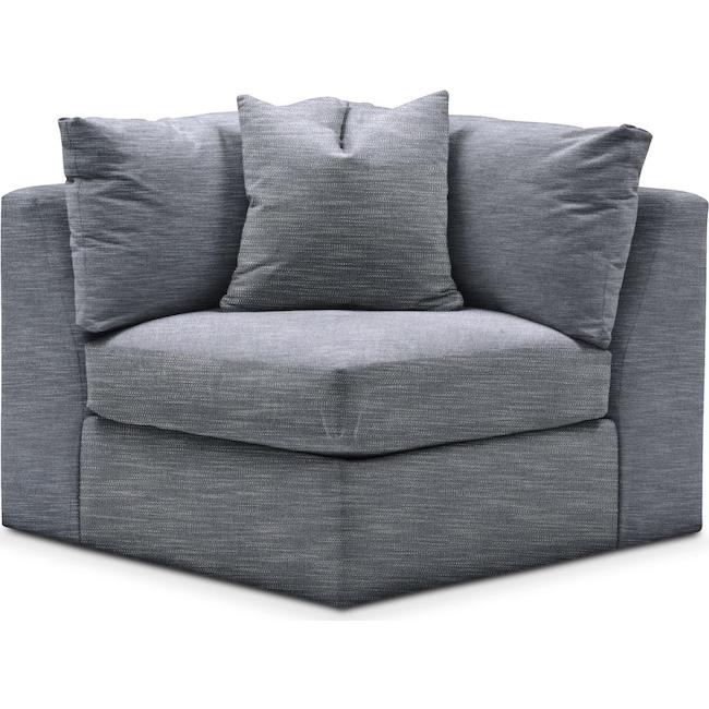 Living Room Furniture - Collin Corner Chair- Comfort in Dudley Indigo