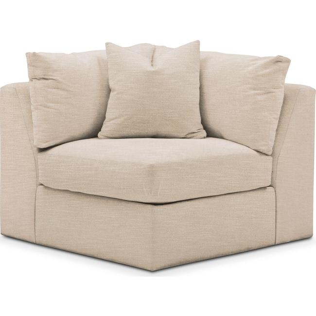 Living Room Furniture - Collin Corner Chair- Comfort in Dudley Buff
