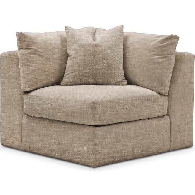 Living Room Furniture - Collin Corner Chair- Comfort in Dudley Burlap