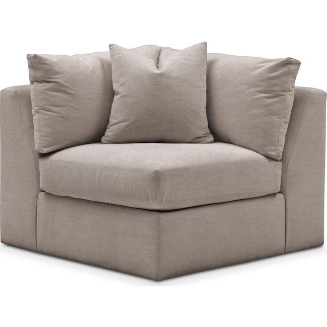 Living Room Furniture - Collin Corner Chair- Comfort in Abington TW Fog