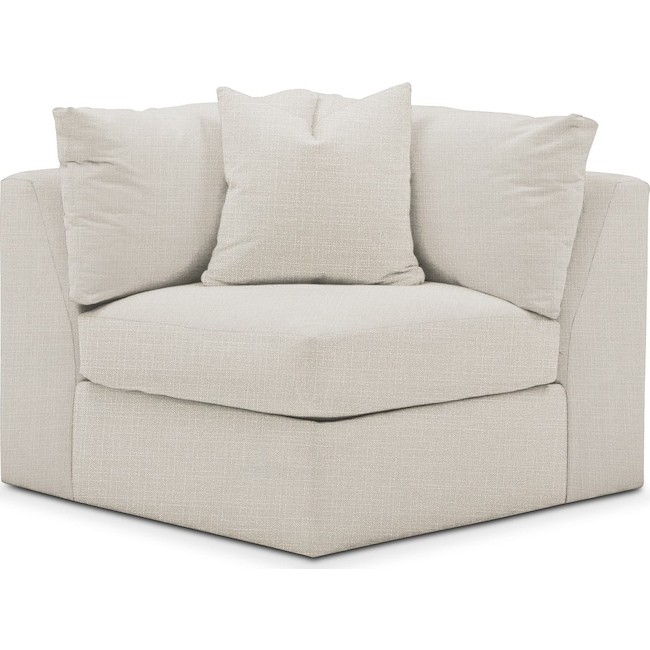Living Room Furniture - Collin Corner Chair- Comfort in Anders Ivory
