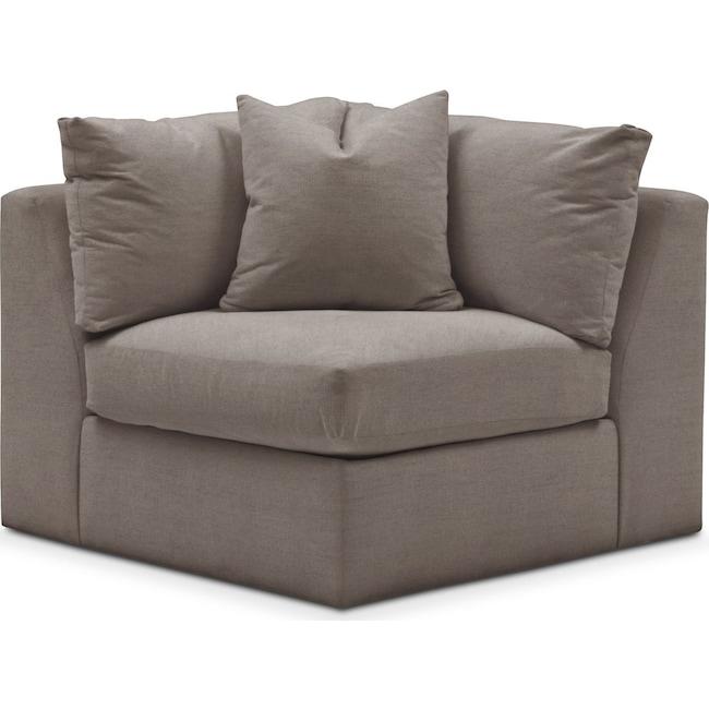 Living Room Furniture - Collin Corner Chair- Cumulus in Oakley III Granite