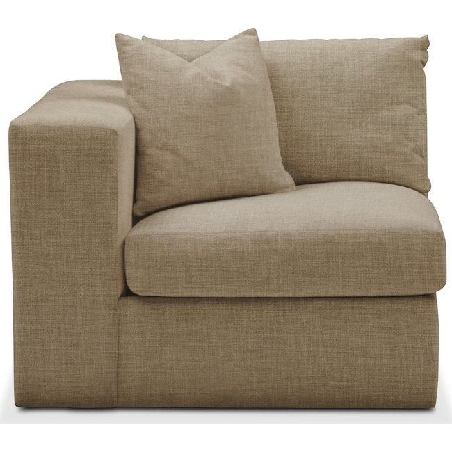 Living Room Furniture - Collin Left Arm Facing Chair- Comfort in Milford II Toast
