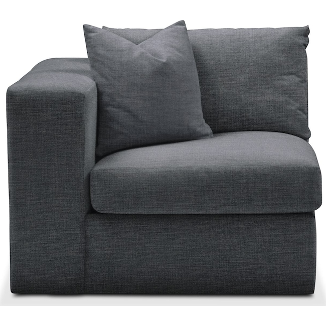 Living Room Furniture - Collin Left Arm Facing Chair- Comfort in Milford II Charcoal