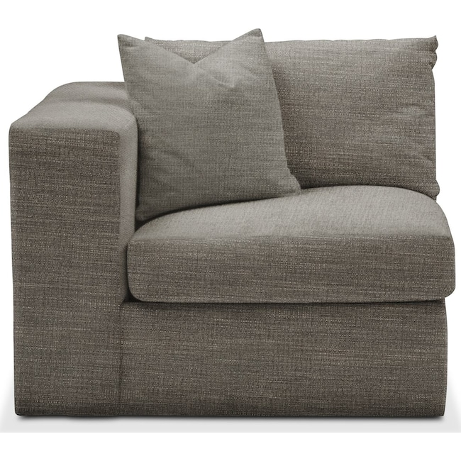Living Room Furniture - Collin Left Arm Facing Chair- Comfort in Victory Smoke