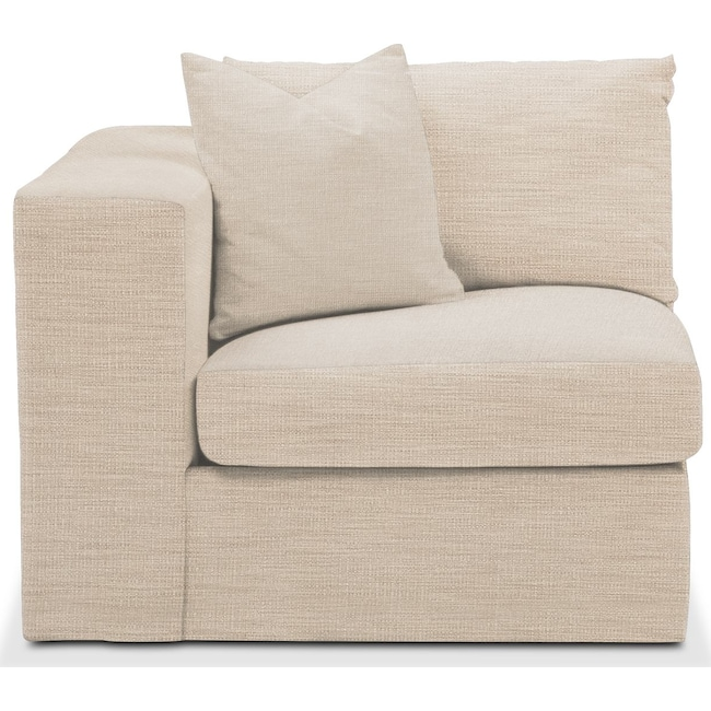 Living Room Furniture - Collin Left Arm Facing Chair- Comfort in Victory Ivory