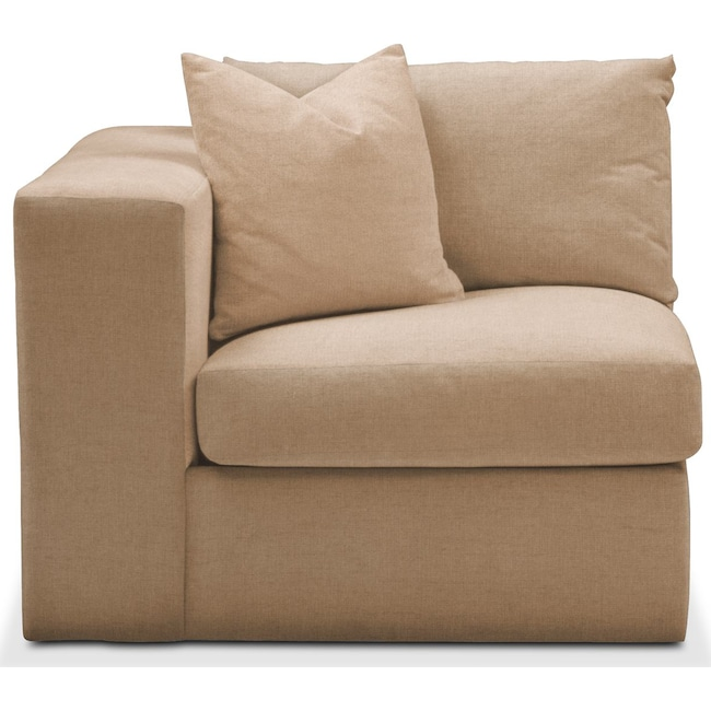 Living Room Furniture - Collin Left Arm Facing Chair- Comfort in Hugo Camel