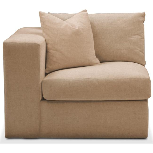 Living Room Furniture - Collin Left Arm Facing Chair- Comfort in Hugo Camel