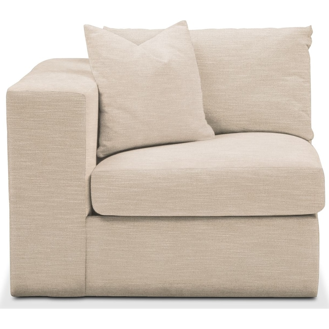 Living Room Furniture - Collin Left Arm Facing Chair- Comfort in Dudley Buff