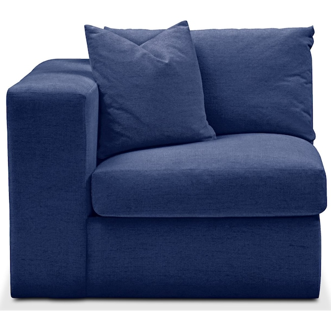 Living Room Furniture - Collin Left Arm Facing Chair- Comfort in Abington TW Indigo