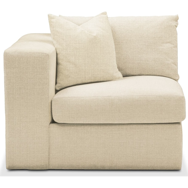 Living Room Furniture - Collin Left Arm Facing Chair- Comfort in Anders Cloud