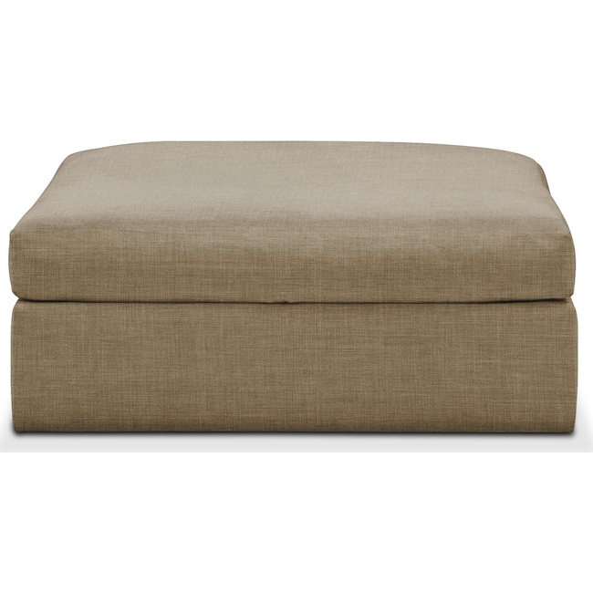 Living Room Furniture - Collin Ottoman- Comfort in Milford II Toast