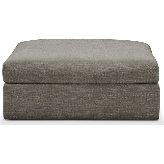 Living Room Furniture - Collin Ottoman- Comfort in Victory Smoke