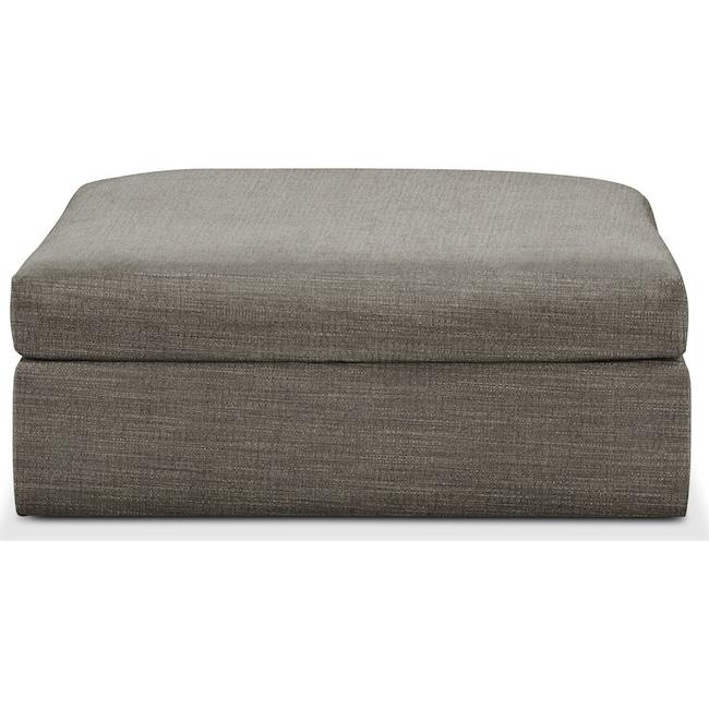 Living Room Furniture - Collin Ottoman- Comfort in Victory Smoke