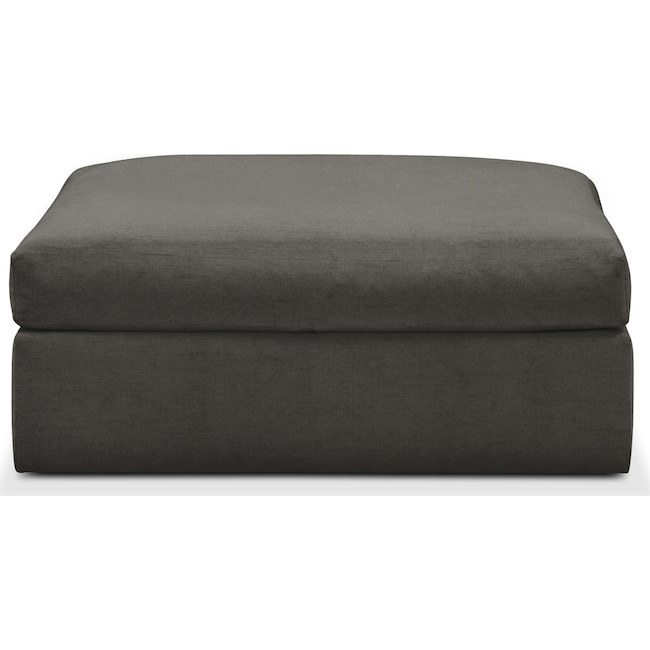 Living Room Furniture - Collin Ottoman- Comfort in Statley L Sterling