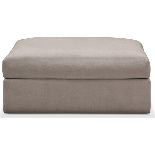 Living Room Furniture - Collin Ottoman- Comfort in Abington TW Fog