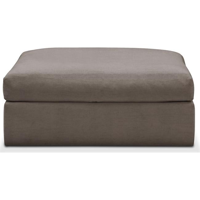 Living Room Furniture - Collin Ottoman- Cumulus in Oakley III Granite
