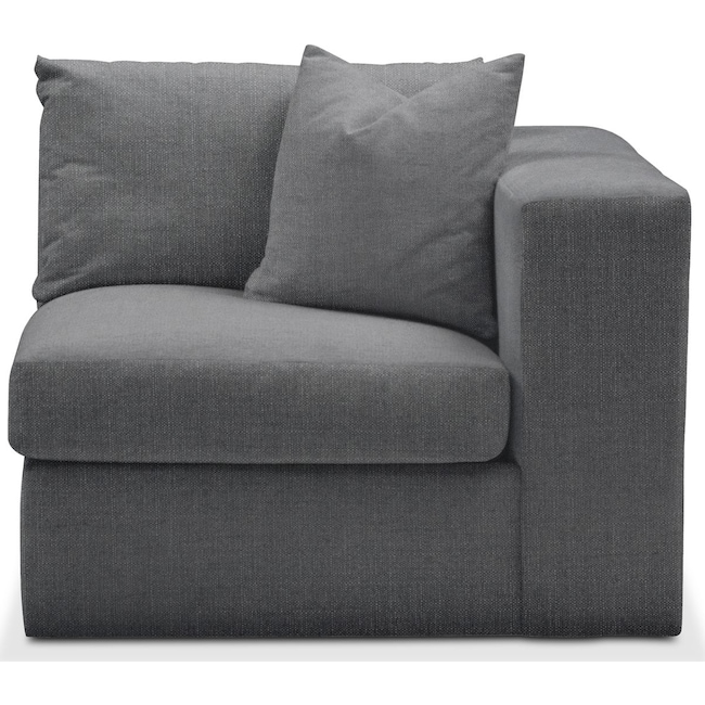 Living Room Furniture - Collin Right Arm Facing Chair- Comfort in Depalma Charcoal