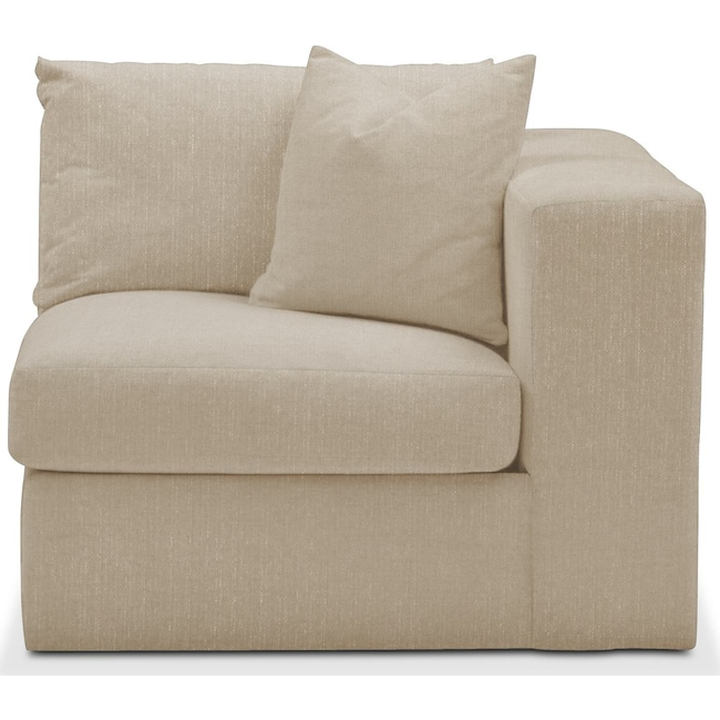 Living Room Furniture - Collin Right Arm Facing Chair- Comfort in Depalma Taupe