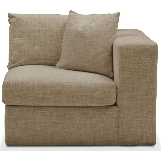 Living Room Furniture - Collin Right Arm Facing Chair- Comfort in Milford II Toast