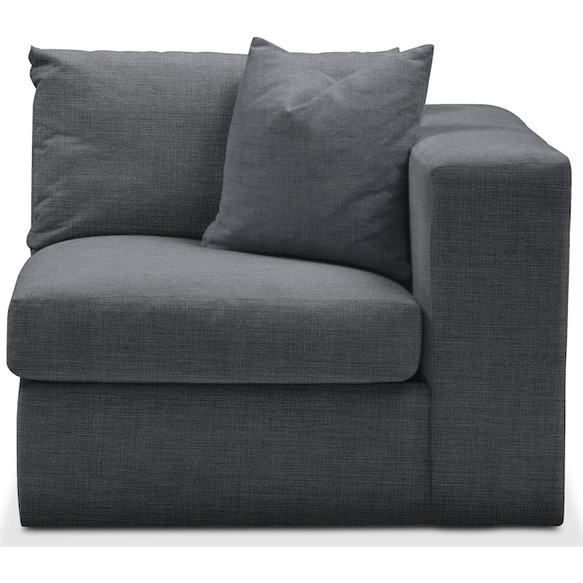 Living Room Furniture - Collin Right Arm Facing Chair- Comfort in Milford II Charcoal