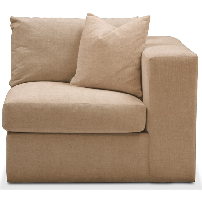 Living Room Furniture - Collin Right Arm Facing Chair- Comfort in Hugo Camel