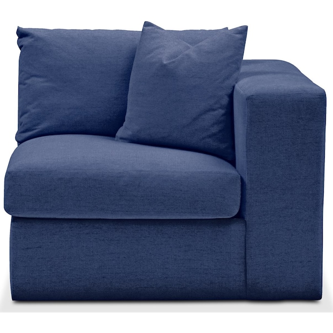 Living Room Furniture - Collin Right Arm Facing Chair- Comfort in Abington TW Indigo