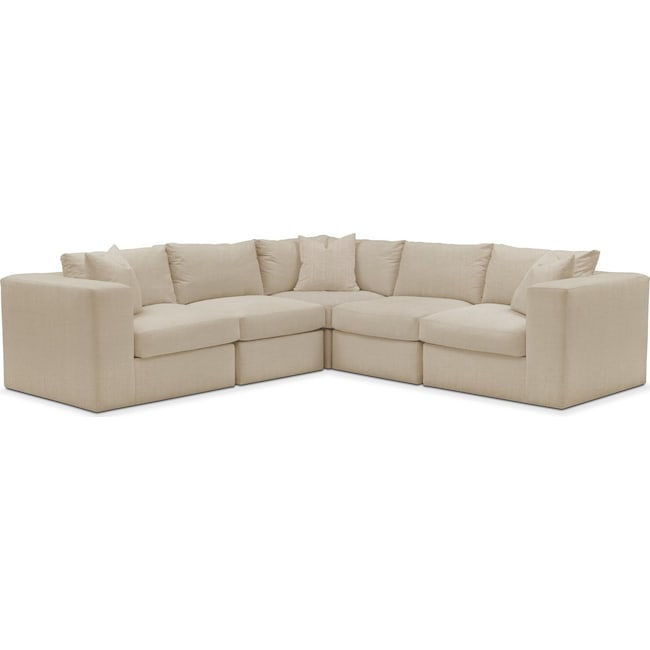Living Room Furniture - Collin 5 Pc. Sectional - Comfort in Depalma Taupe
