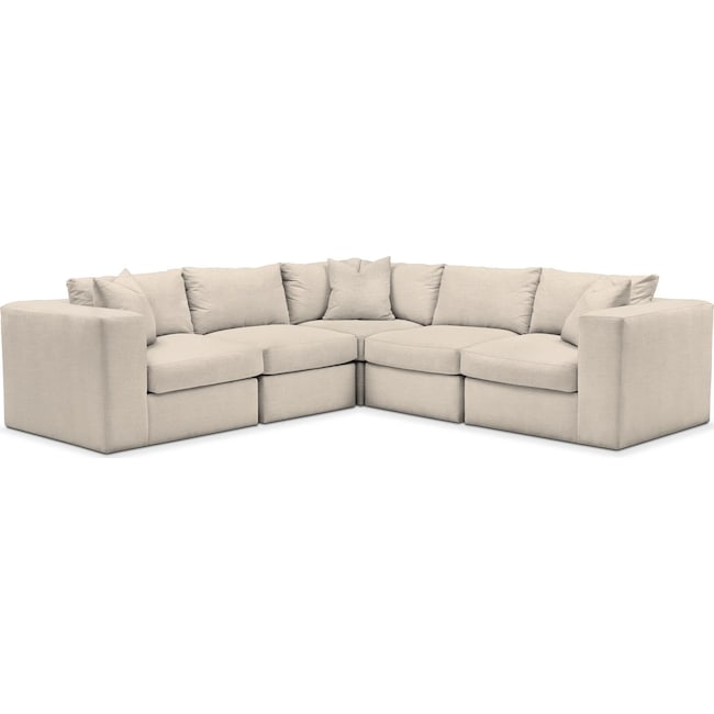 Living Room Furniture - Collin 5 Pc. Sectional - Comfort in Curious Pearl