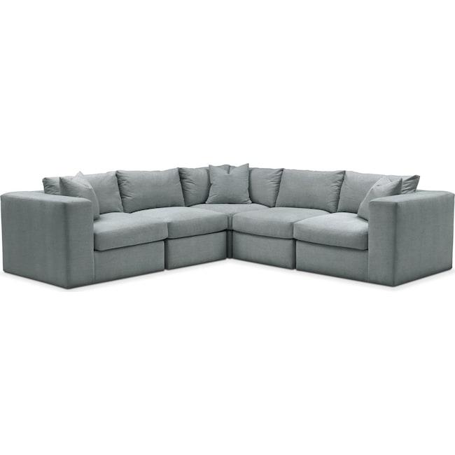 Living Room Furniture - Collin 5 Pc. Sectional - Comfort in Abington TW Seven Seas