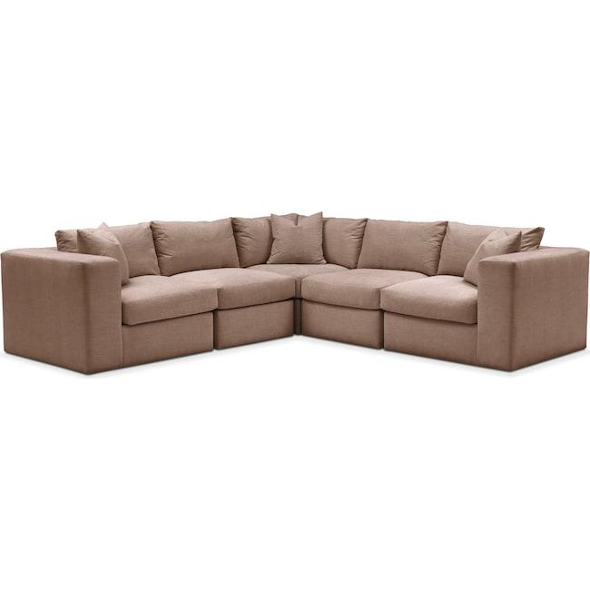 Living Room Furniture - Collin 5-Piece Sectional - Comfort in Abington TW Antler