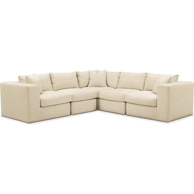 Living Room Furniture - Collin 5-Piece Sectional - Comfort in Anders Cloud