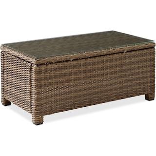 Destin Outdoor Rectangular Coffee Table - Brown