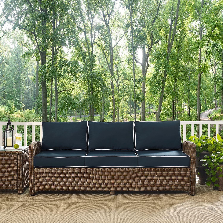 Nice Outdoor Furniture   Destin Outdoor Sofa   Blue
