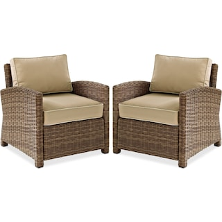 Destin Set of 2 Outdoor Chairs - Sand