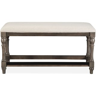 Charleston Counter-Height Bench - Gray