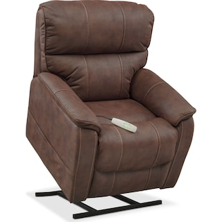 Mondo Power Lift Recliner - Brown