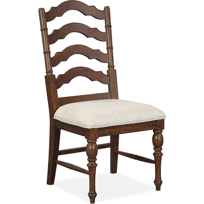 Side Chair charleston side chair tobacco value city furniture and mattresses