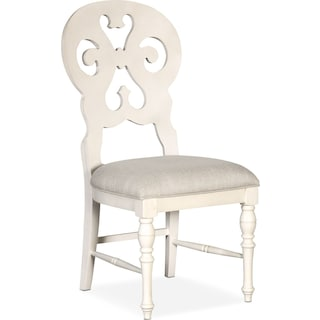 Charleston Scroll-Back Side Chair - White
