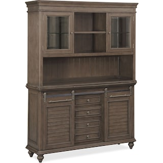 Charleston Buffet and Hutch - Gray