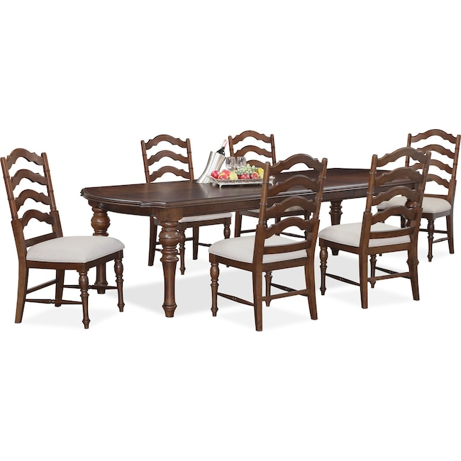 Charleston Rectangular Dining Table And 6 Side Chairs