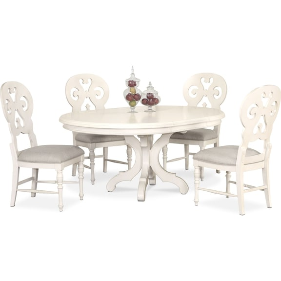 Was 99995 Today 89996 Charleston Round Dining Table And 4 Scroll Back Side Chairs