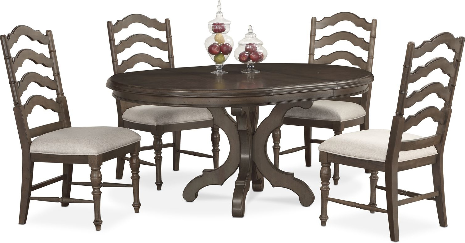 ... Dining Room Furniture - Charleston Round Dining Table and 4 Side Chairs  sc 1 st  Value City Furniture & Charleston Round Dining Table and 4 Side Chairs | Value City ...