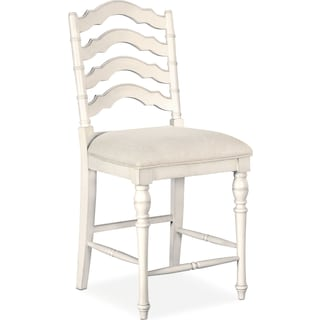 Charleston Counter-Height Stool - White