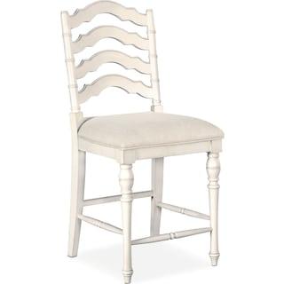 Charleston Counter-Height Stool - White