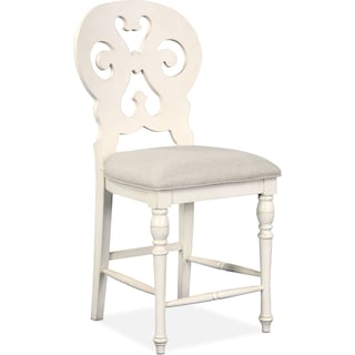 Charleston Scroll-Back Counter-Height Barstool